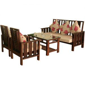 Sofa gỗ hòa phát SF71