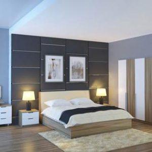 Bộ giường tủ Hòa phát GN301