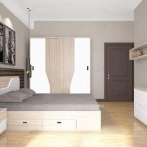 Bộ giường tủ Hòa phát GN302