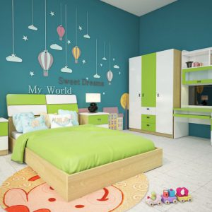 Bộ giường tủ hòa phát GNE301